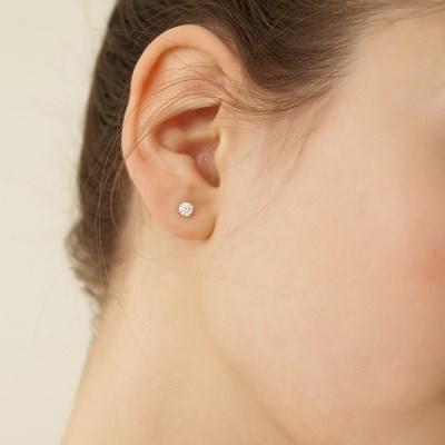 [실버925]모이사나이트 0.25캐럿,0.1캐럿 귀걸이_DE0001