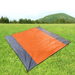 디어캠핑 그라운드 시트(210x200cm) (오렌지) 돗자리겸용 텐트방수포