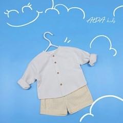 여아 유아 아동 키즈 봉 가디건 등원룩 구름 크림