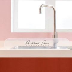 싱크대물막이 물받이 물튀김방지 설거지 가림막 투명 필기체t