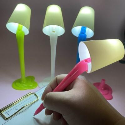 [맙소사잡화점] 미니어쳐 LED 스탠드 조명 모형 볼펜