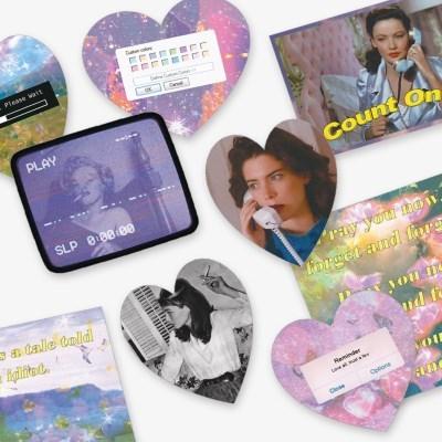 Purple mono Sticker Pack