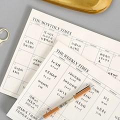 월간 주간 달력형 먼슬리 위클리 계획 스케줄 플래너