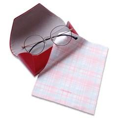 클리어씨 핑크체크 pink check 초극세사 안경닦이 안경클리너 안경천