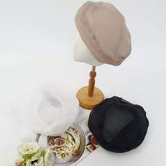 시스루 꾸안꾸 데일리 무지 기본 패션 베레모 모자