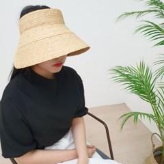 라피아 썬캡 기본 심플 꾸안꾸 자외선차단 썬캡 모자