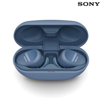 소니 WF-SP800N 노이즈캔슬링 무선 이어폰 / 블루
