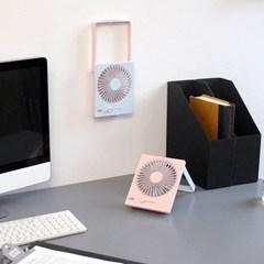 델키 폴딩 네모팬 무선 미니 선풍기 탁상용/벽걸이 겸용