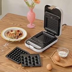 플랜팟 와플메이커 3in1 / 샌드위치 와플기계 크로플팬