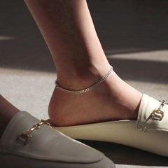 silver classic chain anklet