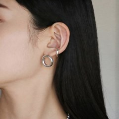 silver bold earcuff
