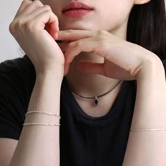 silver 2line bracelet