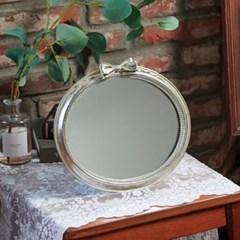 앤틱 실버 리본 타원 거울