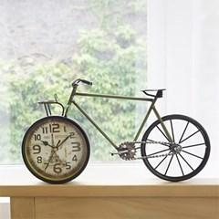디작소 탁상시계 인테리어 탁상용 레트로 빈티지 롱 자전거
