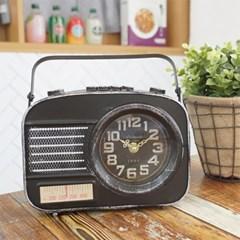 디작소 탁상시계 인테리어 탁상용 레트로 빈티지 라디오모양