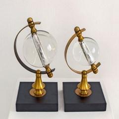 거실인테리어 황금 크리스탈 지구본 금속 장식품 서재장식소품 J