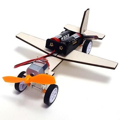 나무 DIY 조립 전기 동작 풍력 비행기