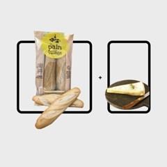 프랑스 바게뜨 X 브리 드 모 AOP 치즈