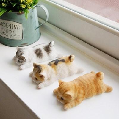 엎드린 고양이 냉장고 자석 (3type)_(2211753)