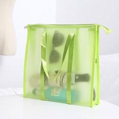 아쿠아 방수 비치백(그린) PVC 물놀이가방