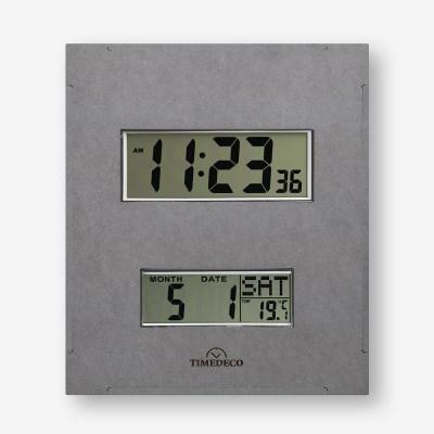(ktk182)디지털 벽시계(온도/요일/날짜) 그레이_(1671002)