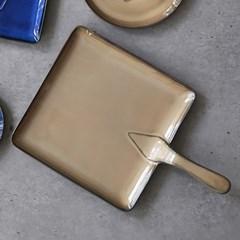 예쁜그릇 접시 그릇 사각 후라이팬 36cm 브라운 디작소