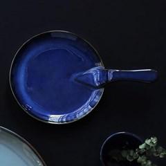 예쁜그릇 접시 그릇 원형 후라이팬 23cm 블루 디작소