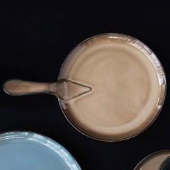 예쁜그릇 접시 그릇 원형 후라이팬 29cm 브라운 디작소