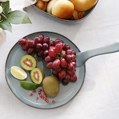 예쁜그릇 접시 그릇 원형 후라이팬 37cm 그레이 디작소