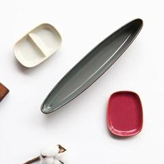 예쁜그릇 접시 그릇 올리브 26cm 4color 디작소