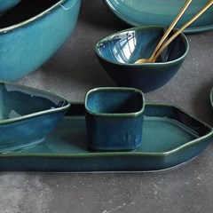예쁜그릇 접시 그릇 사각 볼 8.5cm 4color 디작소