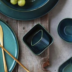 예쁜그릇 접시 그릇 사각 5.5cm 4color 디작소