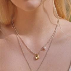 [silver925]Caramel necklace