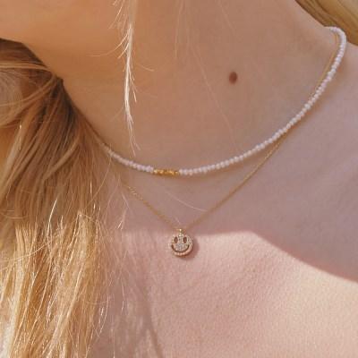 [오마이걸 승희 착용][silver925] smile elin necklace