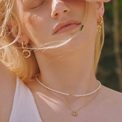 [지숙 착용][silver925] Allison gold necklace