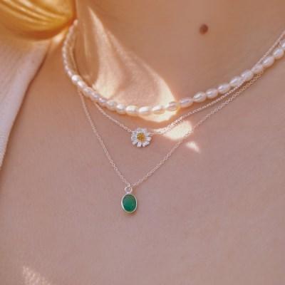 [전혜빈착용] [silver925] avocado necklace