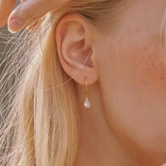 [써니,효정,지호 착용][silver925] water cubic earring