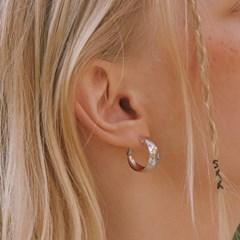 [신도현 착용]glossy hoop earring