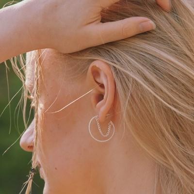 [한소희 착용][silver925]savage hoop earring