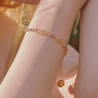 [silver925] big ball bracelet