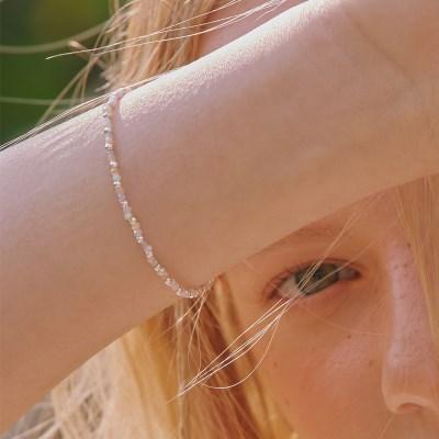[전효성 착용][silver925]Pastel bead bracelet