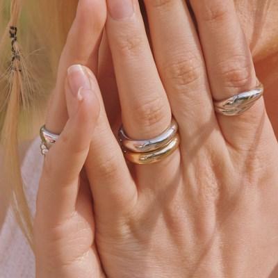 [2SET] basic bold ring