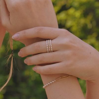 [이세영 착용][silver925]wide ball line ring