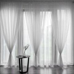 거실 창문 안방 가리개 레이스 암막 바란스 커튼 커텐_화이트
