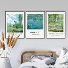 퍼니즈 모넷B 포스터 1+1+1 3장세트 (A3사이즈) /명화 작품