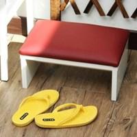 사무실 발받침대 다리거치대 MDF소재 인조가죽마감 2color
