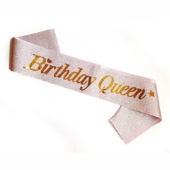Birthday Queen 생일 어깨띠 파티소품