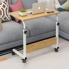 이동식 바퀴달린 사이드 보조 테이블 800/우드/중형