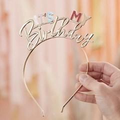 [빛나파티]보헤미안 파스텔 생일 머리띠