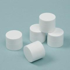 백색 리필 크림용기 5p세트 화이트 여행용 화장품공병